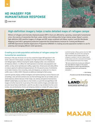 High-definition imagery helps create detailed maps of refugee camps