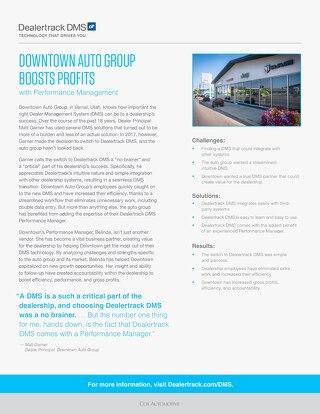 Downtown Auto Group Case Study