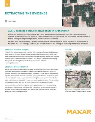ALCIS exposes extent of opium trade in Afghanistan