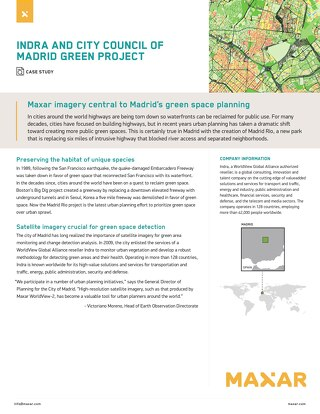 Maxar imagery central to Madrid's green space planning