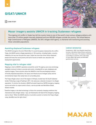 Maxar imagery assists UNHCR in tracking Sudanese refugees