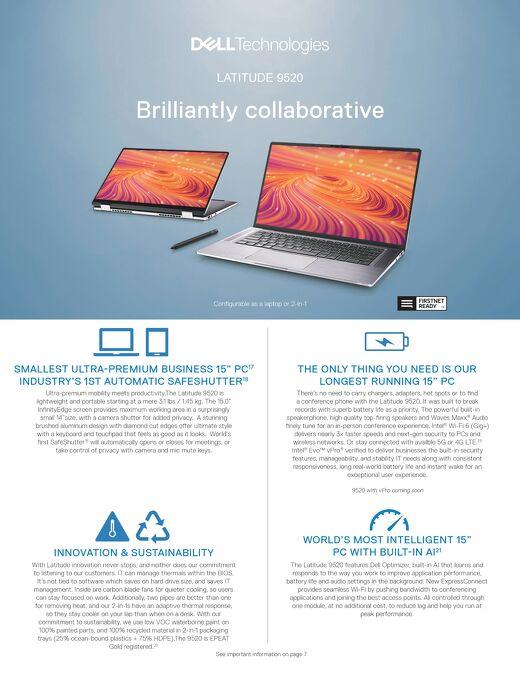 Latitude 9520 Brilliantly Collaborative