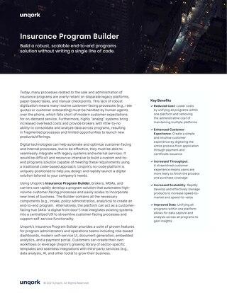 Insurance Program Builder