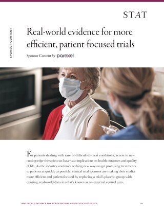 Real-world evidence for more efficent, patient-focused trials