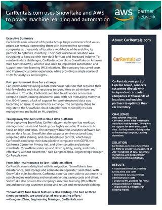 AWS Partner Case Study - CarRental.com
