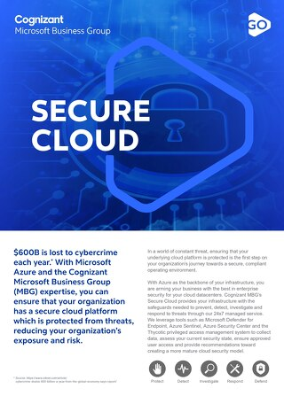 Cognizant MBG GO Secure Cloud 2021 Flyer