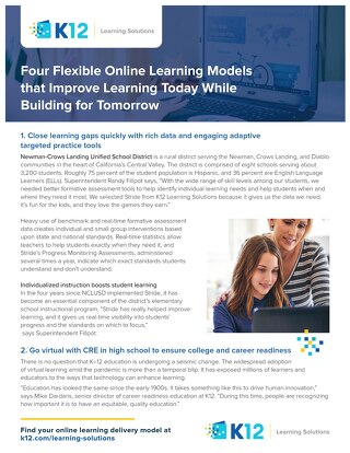 Four Flexible Learning Models
