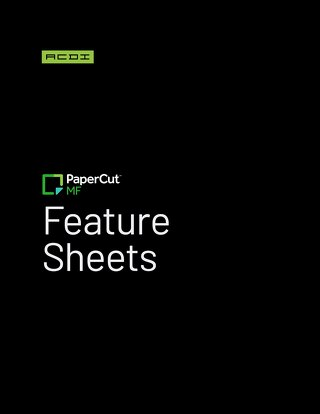 PaperCut Feature Sheets