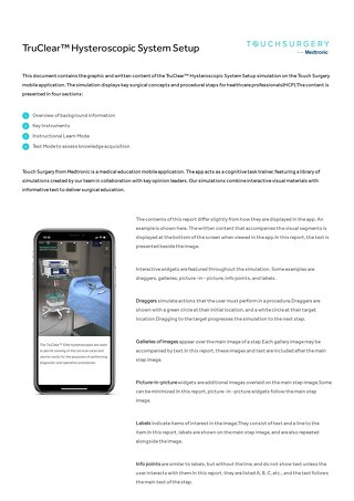 Guide: TruClear Hysteroscopic System Touch Surgery App Setup