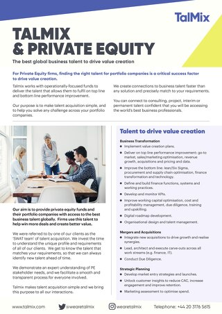 Talmix & Private Equity (TH)