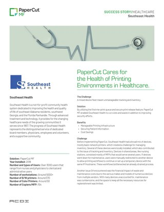 PaperCut Healthcare Case Study Southeast Health