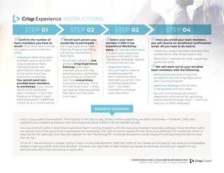 Crisp Experience Enrollment Instructions