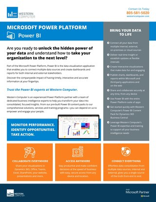 Microsoft Power BI Fact Sheet