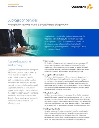 Subrogation Services: Helping healthcare payers uncover every possible recovery opportunity