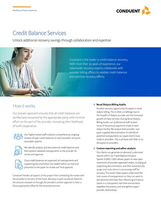Credit Balance Services: Unlock additional recovery savings through collaboration and expertise