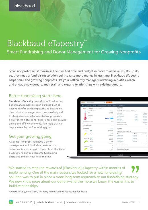 eTapestry Datasheet