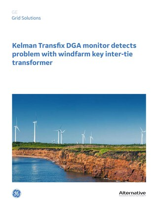 Case Study: Kelman Transfix DGA monitor detects problem with windfarm key inter-tie transformer