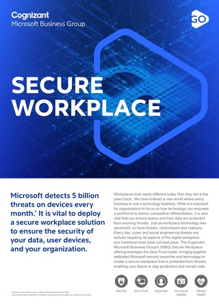 Cognizant MBG GO Secure Workplace 2021 Flyer