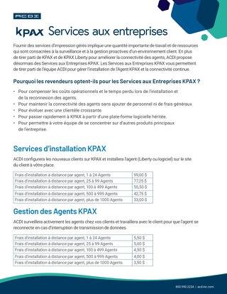 KPAX Business Services en Français