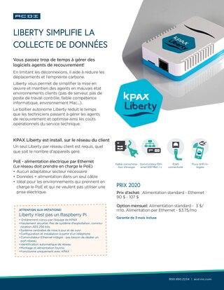 KPAX Liberty Info Sheet en Français