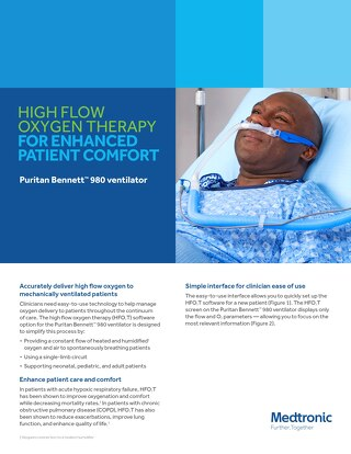 Info Sheet: High-flow Oxygen Therapy for Enhanced Patient Comfort