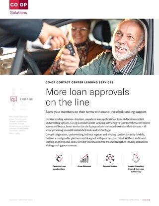 Contact Center Lending Servcices Slipsheet
