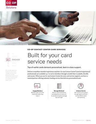 Contact Center Card Services Slipsheet