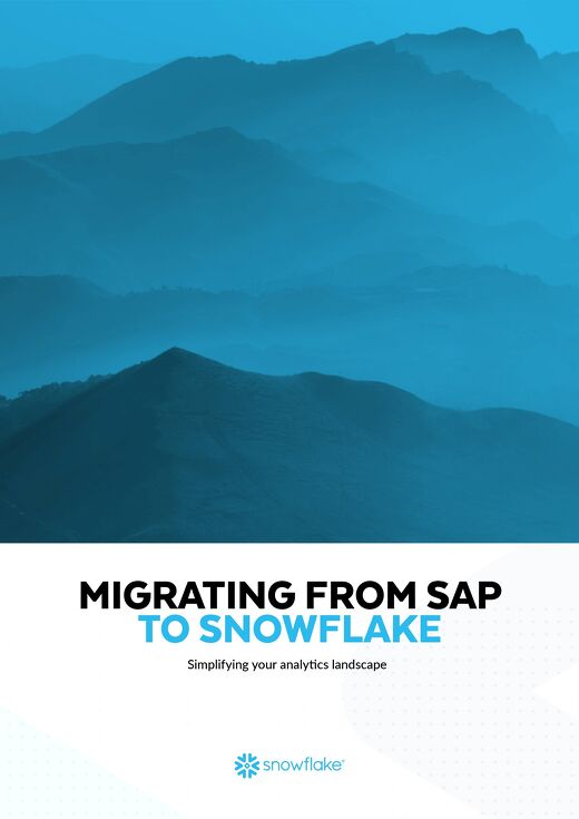 Migrating from SAP to Snowflake
