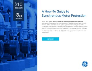FAQ: A How-To Guide to Synchronous Motor Protection