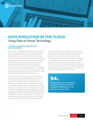 Data's Evolution in the Cloud: Using Data to Power Technology