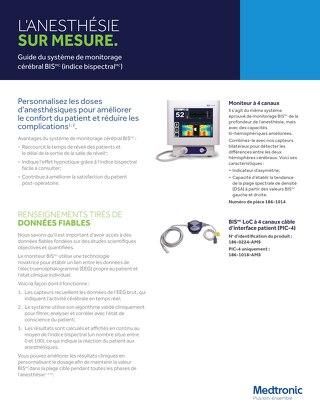 Guide du système de monitorage cérébral BIS