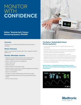 Nellcor™ Bedside SpO2 Patient Monitoring System, PM100N
