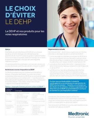 Le DEHP et nos produits pour les voies respiratoires