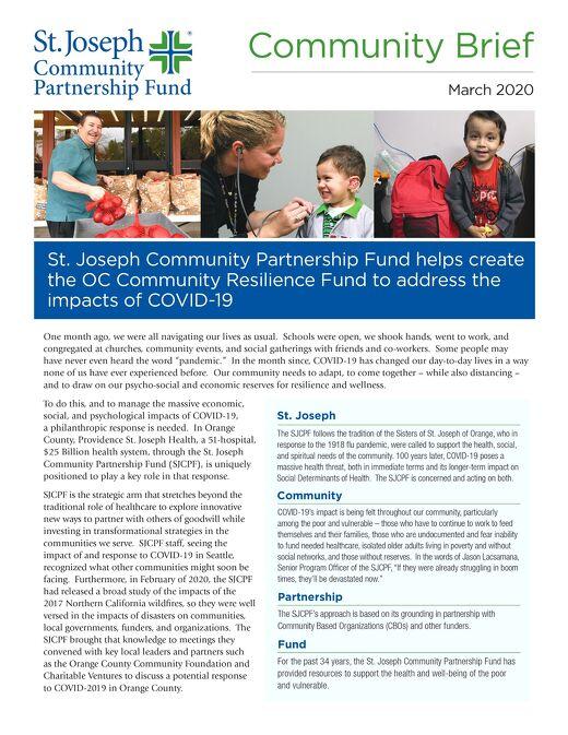 HOW ST. JOSEPH COMMUNITY PARTNERSHIP FUND IS HELPING
