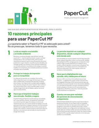 PaperCut MF Top10 Esp