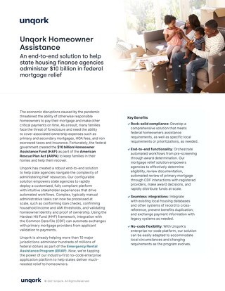 Unqork Homeowner Assistance