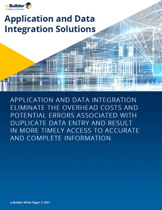 e-Builder White Paper: Application Data Integration Solutions