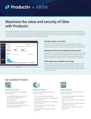Productiv + Okta Data Sheet