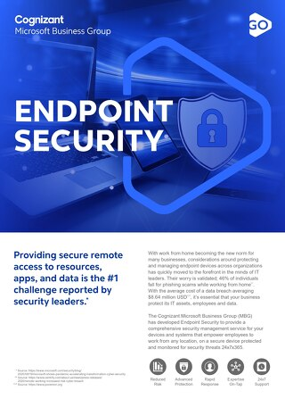 Cognizant MBG GO Endpoint Security 2021 Flyer
