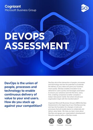 Cognizant MBG GO DevOps Assessment 2021 Flyer