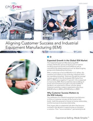 Aligning Customer Success and Industrial Equipment Manufacturing