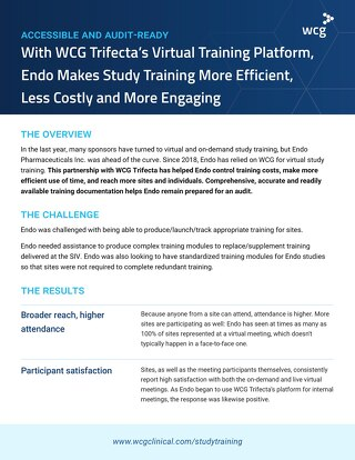 WCG Trifecta Case Study - Making Study Training More Effective and Engaging for Endo