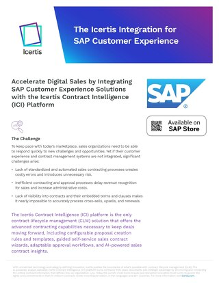 Icertis SAP Customer Experience Integration - Datasheet