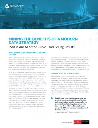 Data's Evolution in the Cloud: Mining the Benefits of a Modern Data Strategy in India