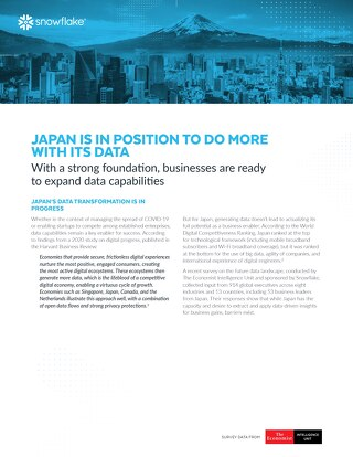 Data's Evolution in the Cloud: Japan Is in Position to Do More with Its Data