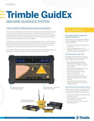 Trimble GuidEx Machine Guidance System Datasheet