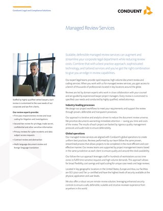 Managed Review Services