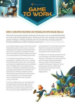 Case Study: How Gaming Can Translate into Solid Skills