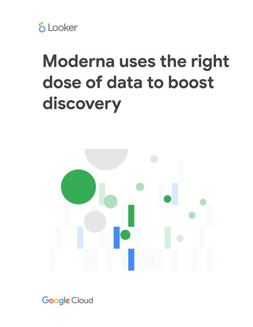 Case Study - Moderna uses the right dose of data to boost discovery