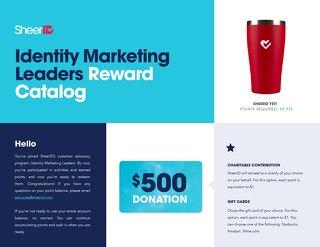 Identity Marketing Leaders Program: Rewards